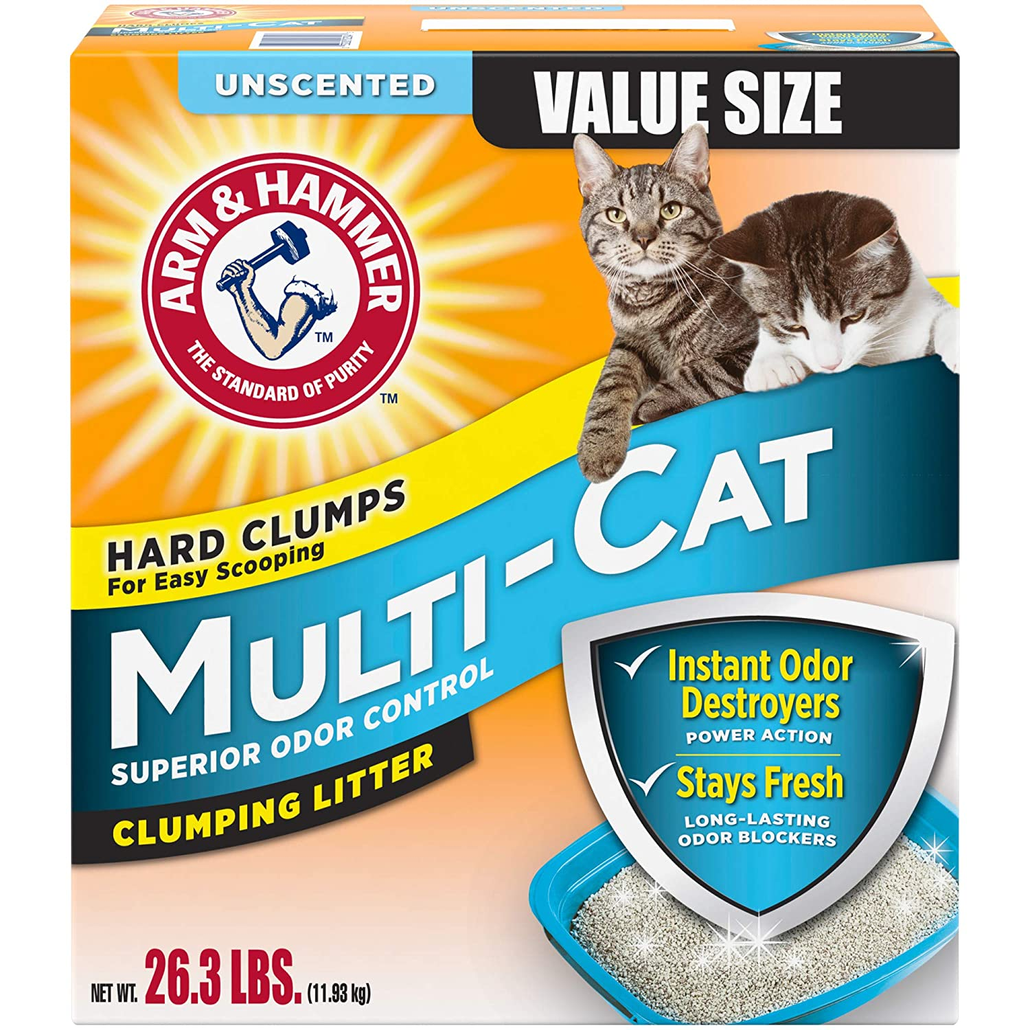 Arm & Hammer Unscented Multi-Cat Superior Odor Control Clumping Cat Litter