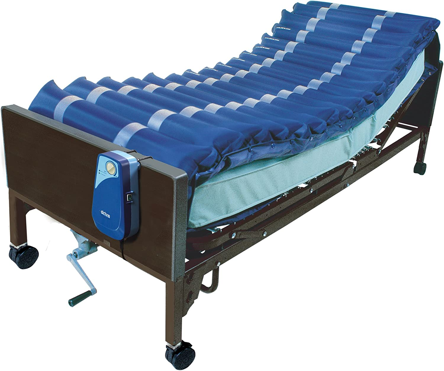 """Drive Medical 5"""" Med Aire Low Air Loss Mattress Overlay System with APP, Blue, 5"""": Health & Personal Care"""