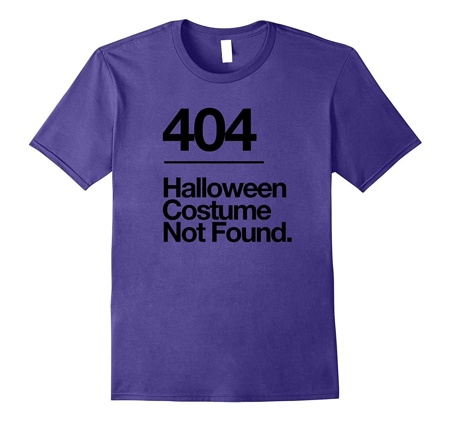 404 Costume Not Found Shirt Funny Halloween Fail T-Shirt-FL