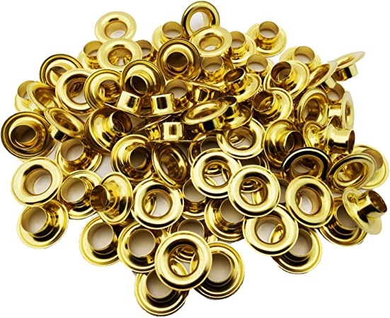 CS osborne 00 grommets nickel plated  1 gross 144 fronts and 144 backs