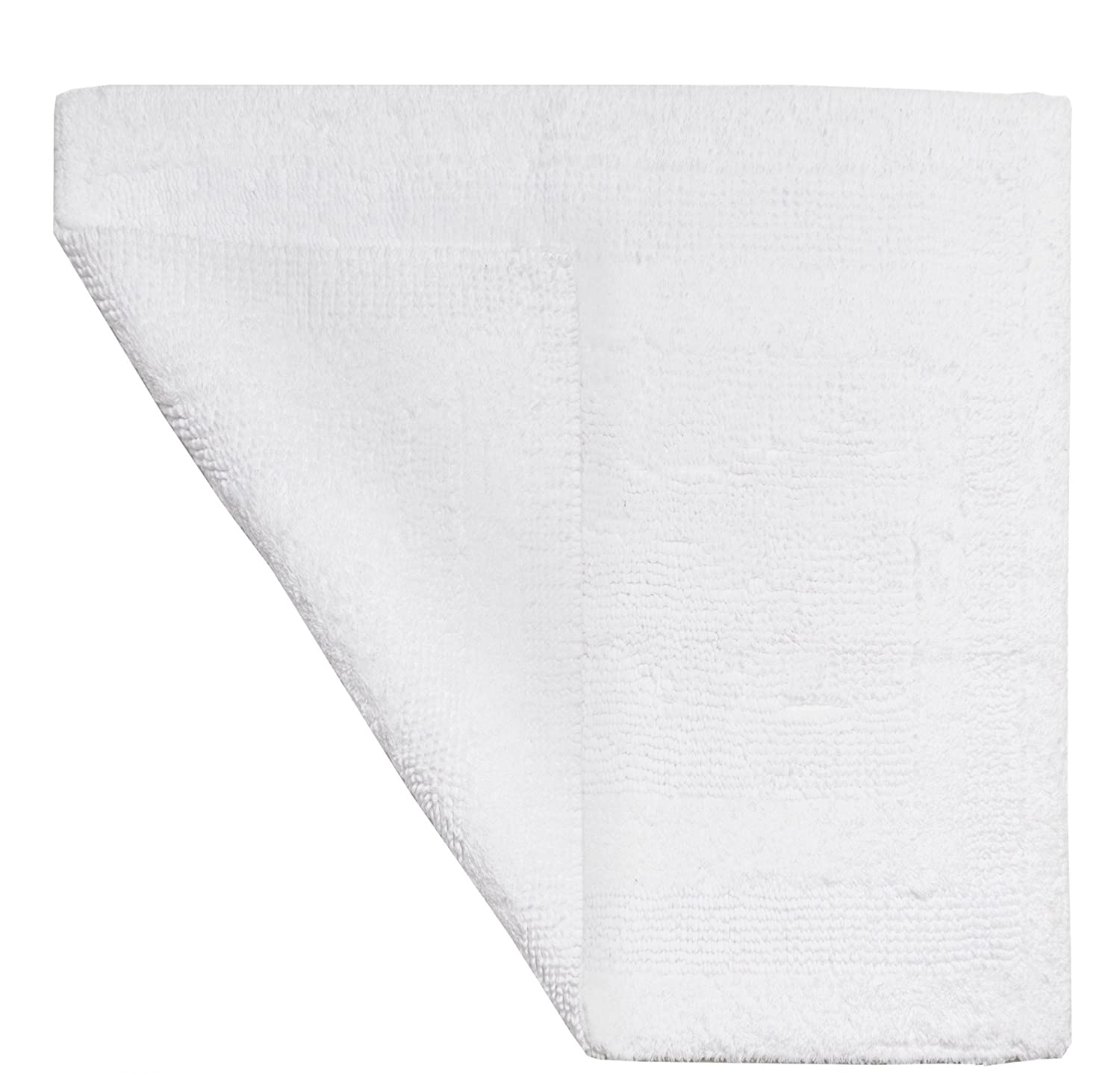 1 Piece 21 X 34 White Hydro Soft Bath Rug, Ice Large Solid Color Plush Super Soft Comfort Mat Reversible Fast Drying Absorbent Step Out Shower Sink Jack And Jill Bathroom Bathmat Luxury Cotton