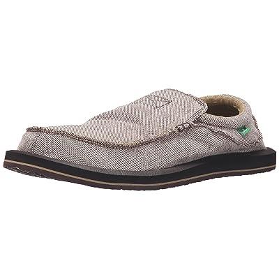 Sanuk Men's Chiba TX Slip-On, Brown/Natural, 8 M US | Loafers & Slip-Ons