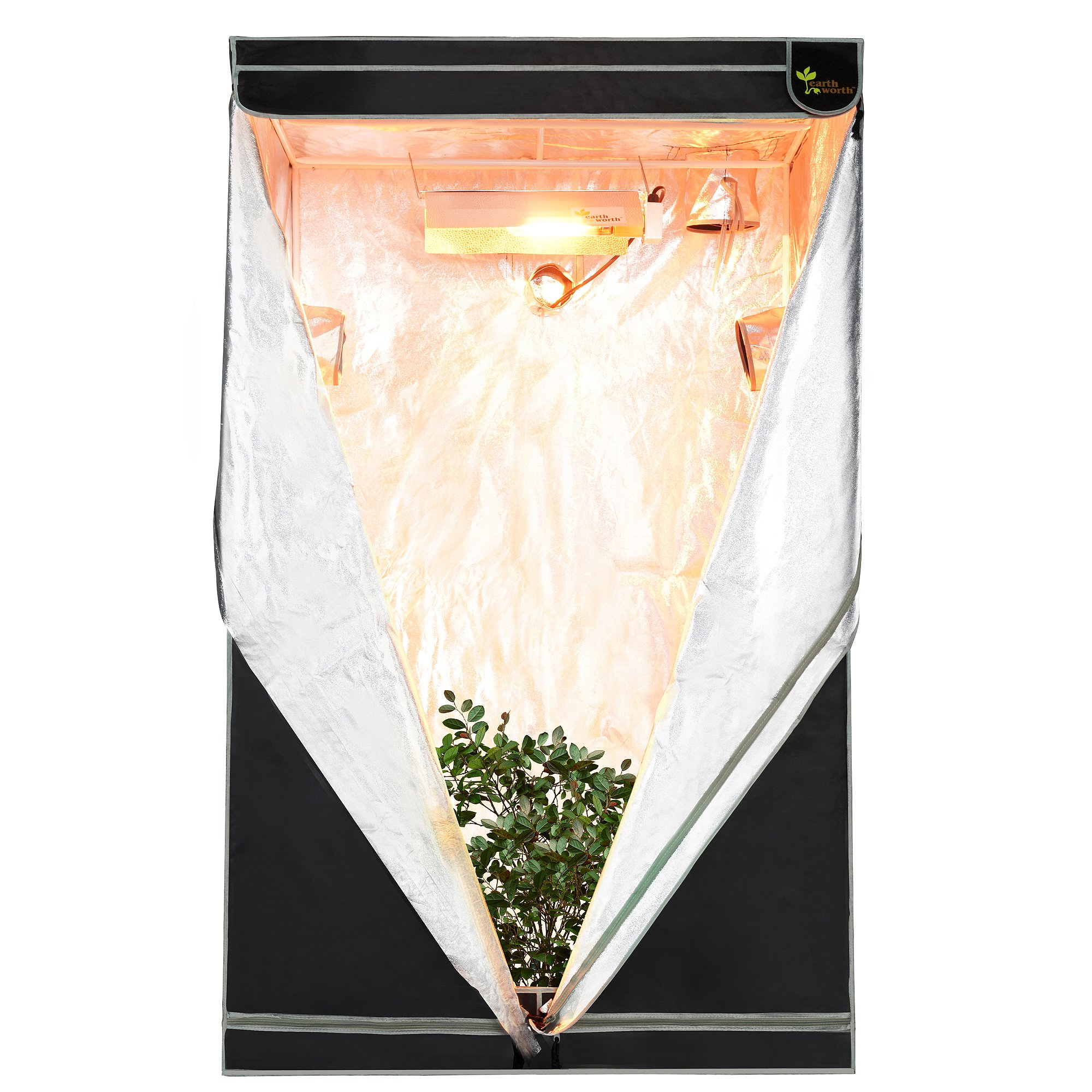 Earth Worth 48''X48''X78'' Mylar Hydro Shanty Hydroponics Indoor Grow Tent - Earth Worth Quality at an Affordable Price!