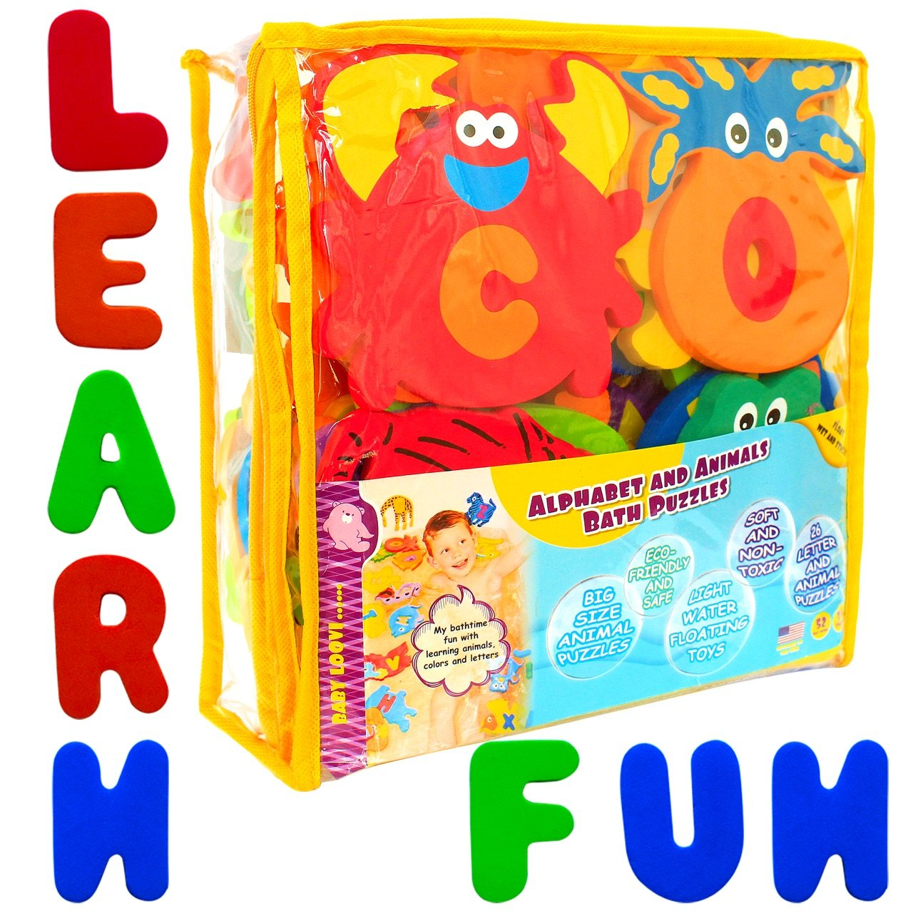 Foam Bath Toys Alphabet – Best Baby Bath Toys For Toddlers Kids ...