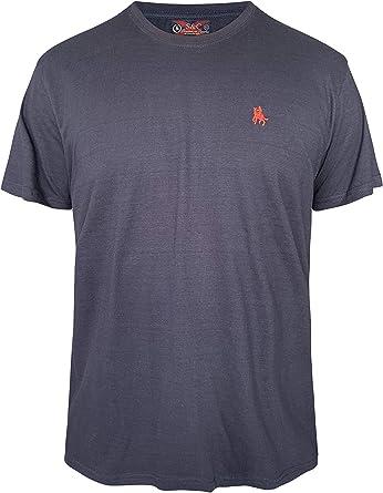 S&C Camiseta Manga Corta 100% Algodón (Azul Marino, XL): Amazon.es: Ropa y accesorios