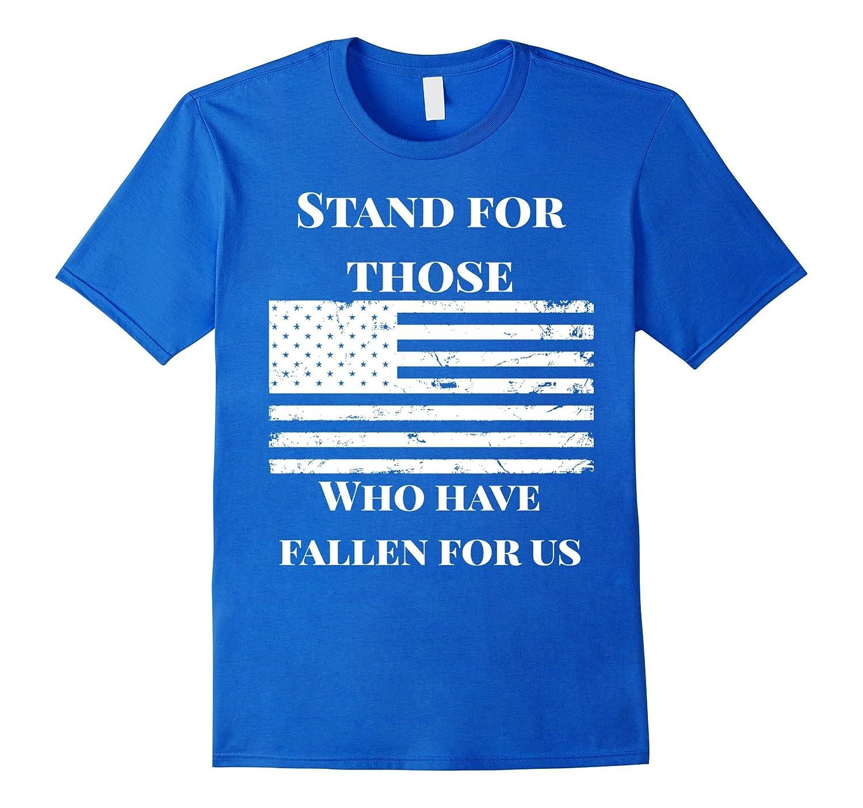 Dont Kneel Distressed American Flag USA Patriot T-Shirt-FL