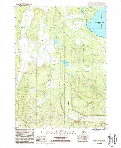 Amazon.com: Alaska Maps | 1987 Kenai, AK USGS Historical Topographic ...