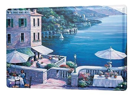 Cartel Letrero de Chapa XXL Deco Ciudad Pintura Terraza lago ...