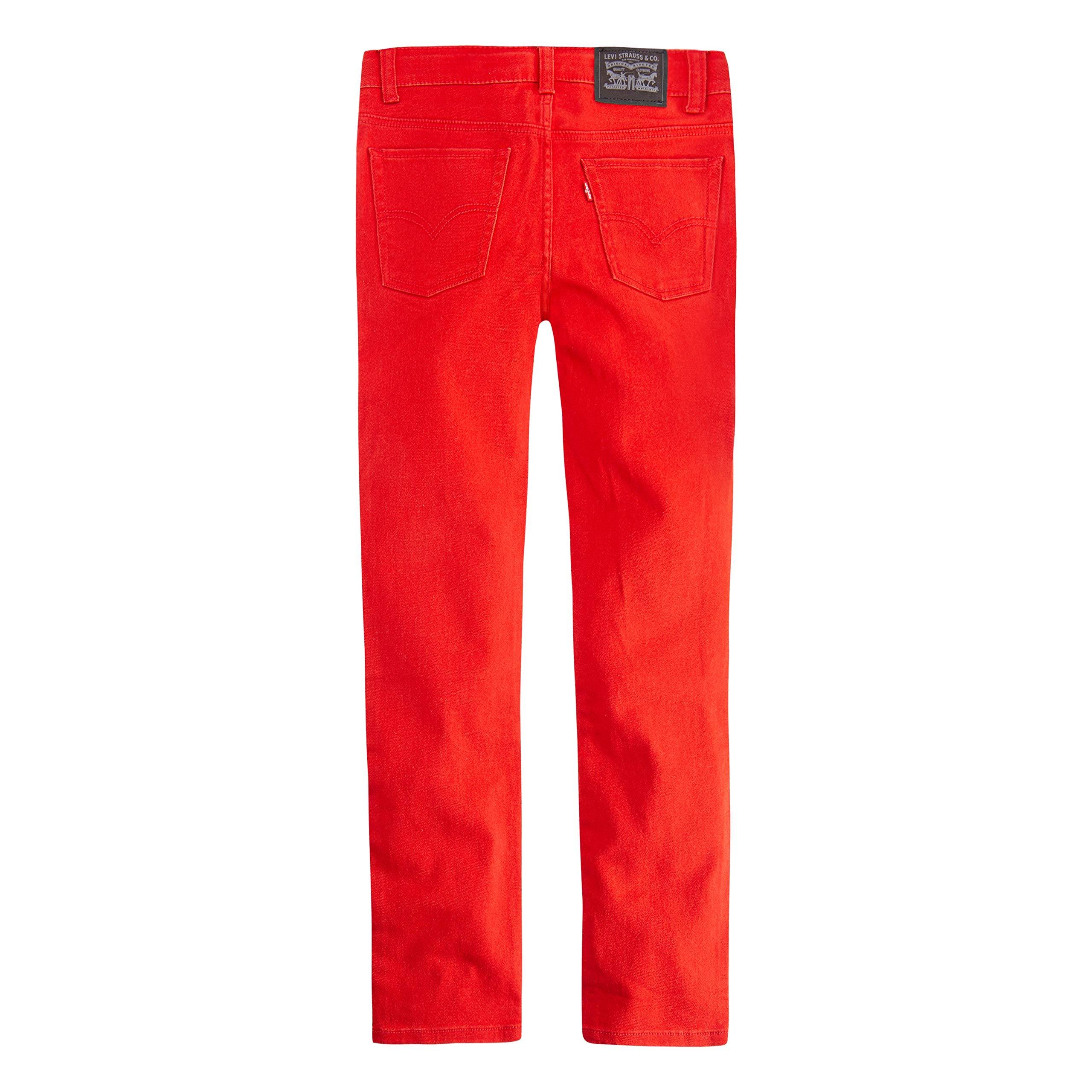 Levi's Boys' Big 510 Skinny Fit Jeans, Aura Orange, 8 by Levi's (Image #2)