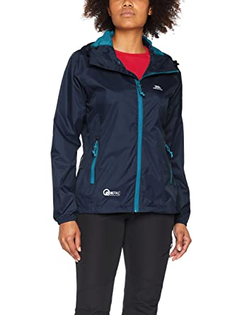 abed764a6 Trespass Qikpac Womens Packaway Waterproof Jacket Lightweight Hooded  Raincoat  Amazon.ca  Clothing   Accessories