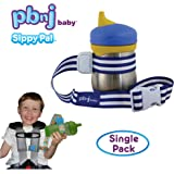 PBnJ Baby SippyPal Sippy Cup Strap Holder Leash Tether (1 Blue Stripe)