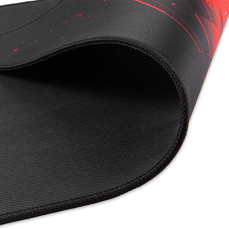Base in Gomma Antiscivolo Superficie estesa Rosso Superficie Testurizzata ad Alta precisione Tappetino per Mouse Extra Large da Gaming KLIM Mousepad XL 900 x 400 x 4 mm