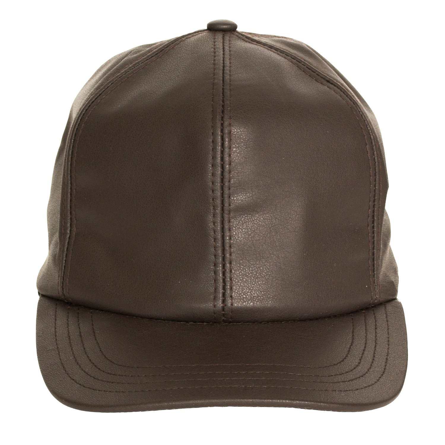 12a304f6bf22e Levine Hat Co Men's Genuine Cowhide Leather Fitted Closed Back Baseball Cap  (2 Colors) at Amazon Men's Clothing store: