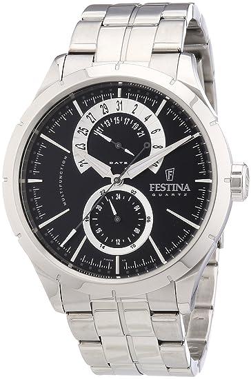 Festina Klassik Multifunktion F16632/3 - Reloj analógico de cuarzo para hombre, correa de