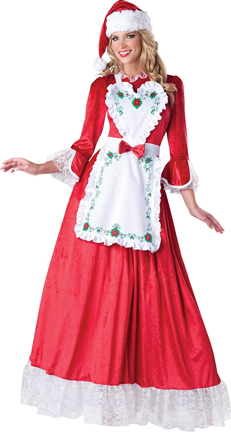 Women's Modern Mrs. Claus Entertaining Dress - DeluxeAdultCostumes.com