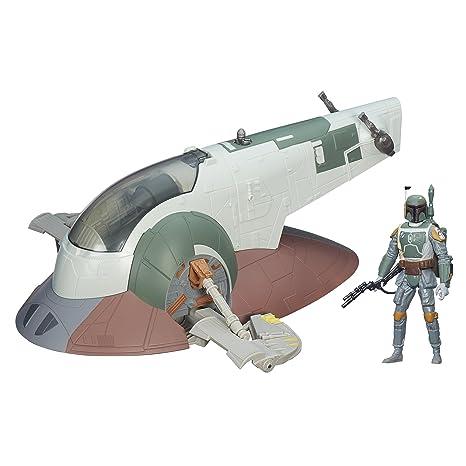 Amazoncom Star Wars Slave I With Boba Fett Toys Games