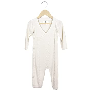 822379547c27 Amazon.com  Earth Baby Outfitters Classic Bamboo Knit Romper 3-6 ...