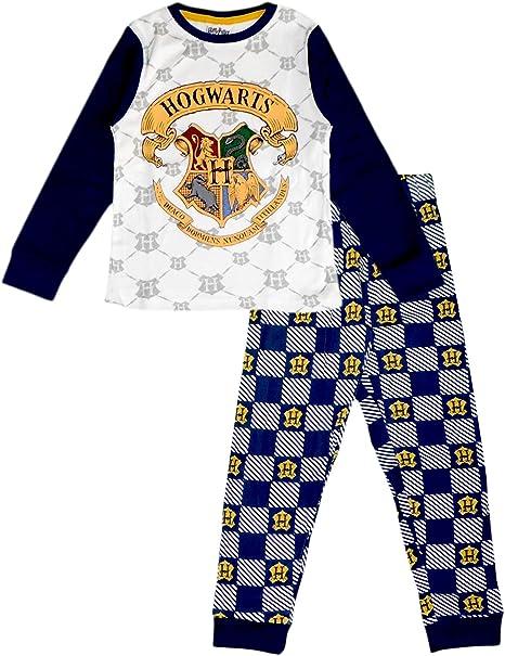 HARRY POTTER Pijama de algodón de Manga Larga para niños y ...
