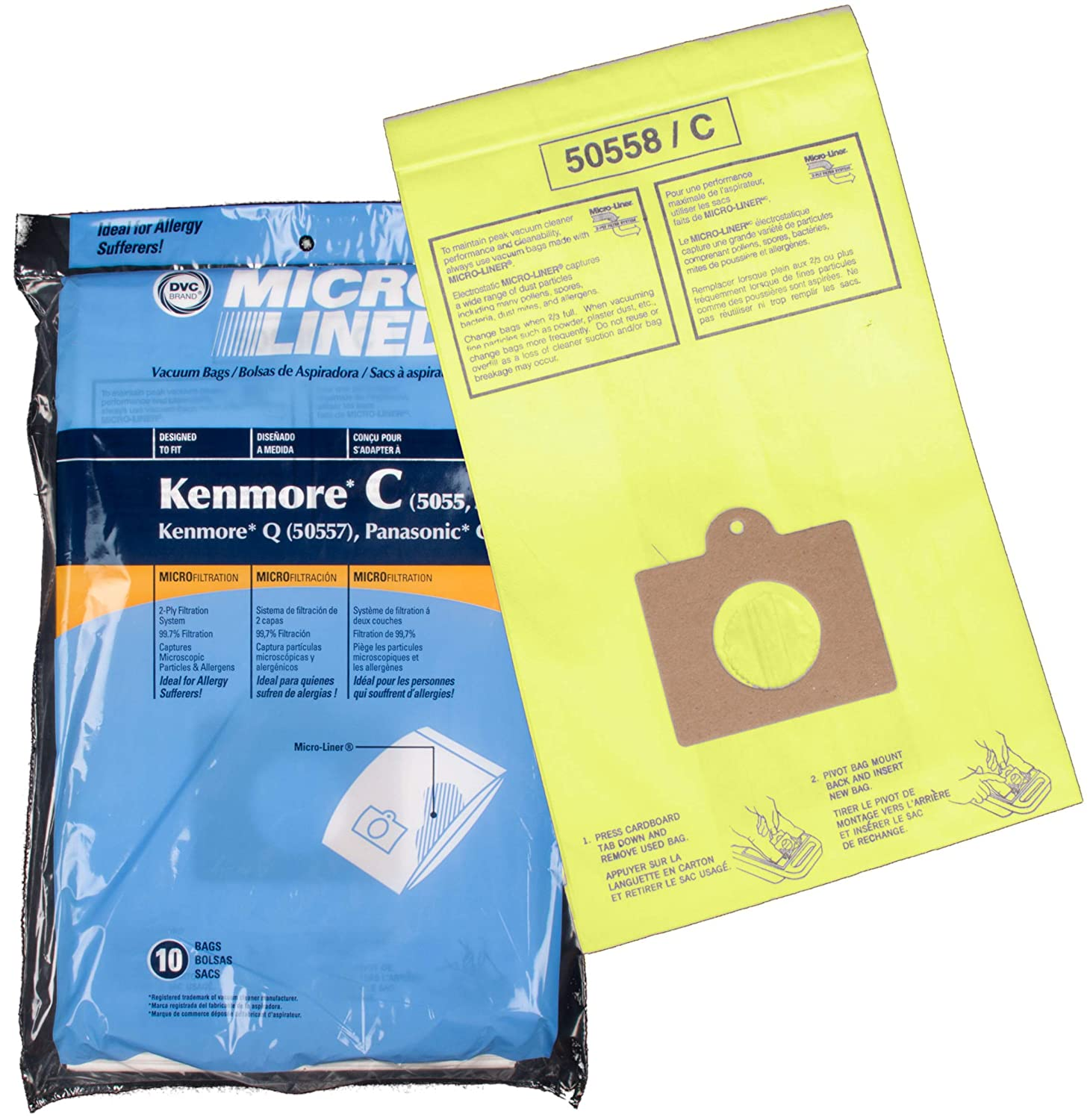 Home Care Products Kenmore 5055/50558 Micro Lined Paper Vacuum Bag, 10-Pack