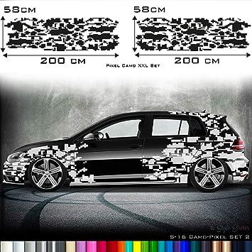 Auto Camouflage Aufkleber Set Cyber Pixelautotattoo Car Style
