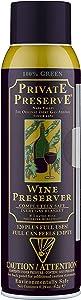 Private Preserve Wine Preservation System | 100% Green Gas Based | Suitable for all Wine, Port, Sake, Cognac, Whiskey, Fine Oil and Vinegar