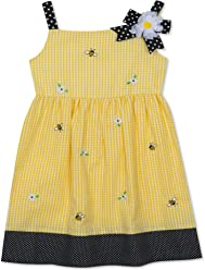a7c26a8faf Rare Editions Yellow Seersucker Bumblebee Dress (12m-6x)