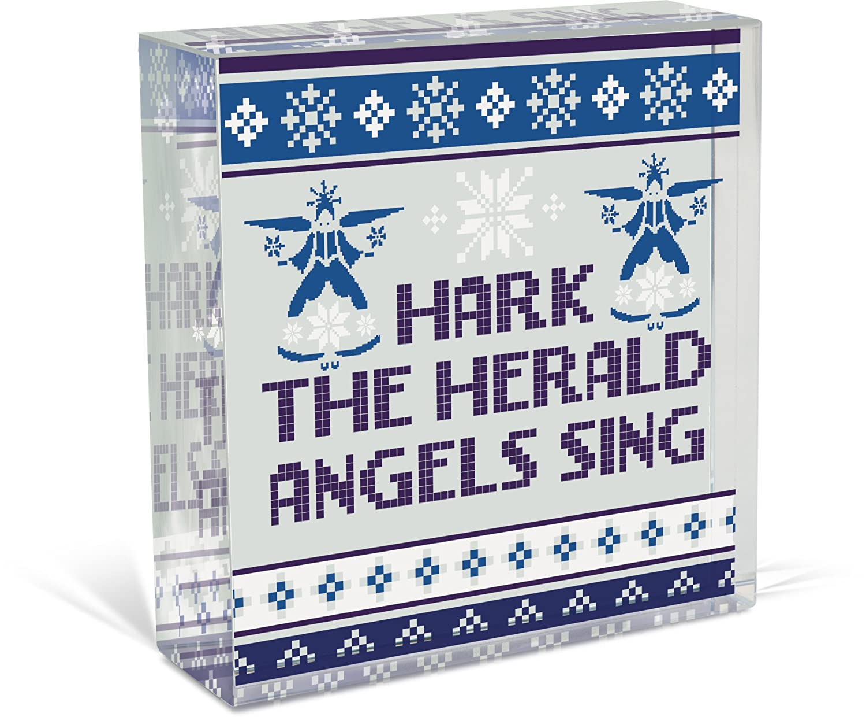 11335 3 Inch AngelStar Hark The Herald /… Glass D/écor Plaque