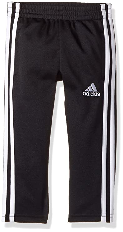 adidas Boys' Little Tapered Trainer Pant, Black, 6