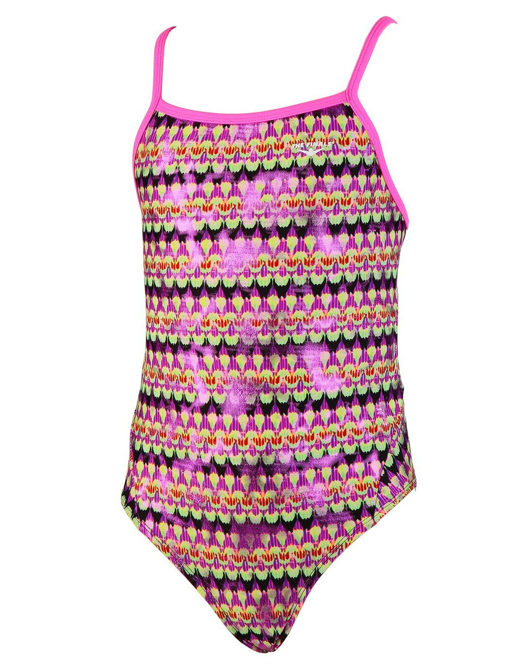 FUNNIES The FINALS Eye Candy Foil Wingback One Piece Swimsuit