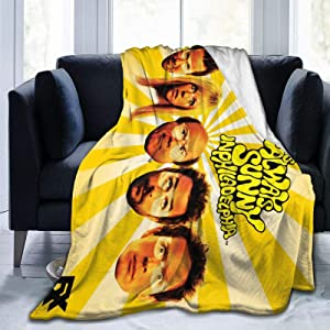 "JICOTIA It's Always Sunny in Philadelphia Poster Ultra Soft Flannel Fleece Blanket Home Decor Stylish Bedroom Living Room Sofa Warm Blanket Air Conditioning Quilt 50""x40"""