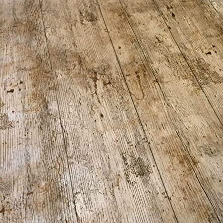 Qpc Direct Wooden Plank Rustic Wood Effect Print Pvc Oilcloth Table