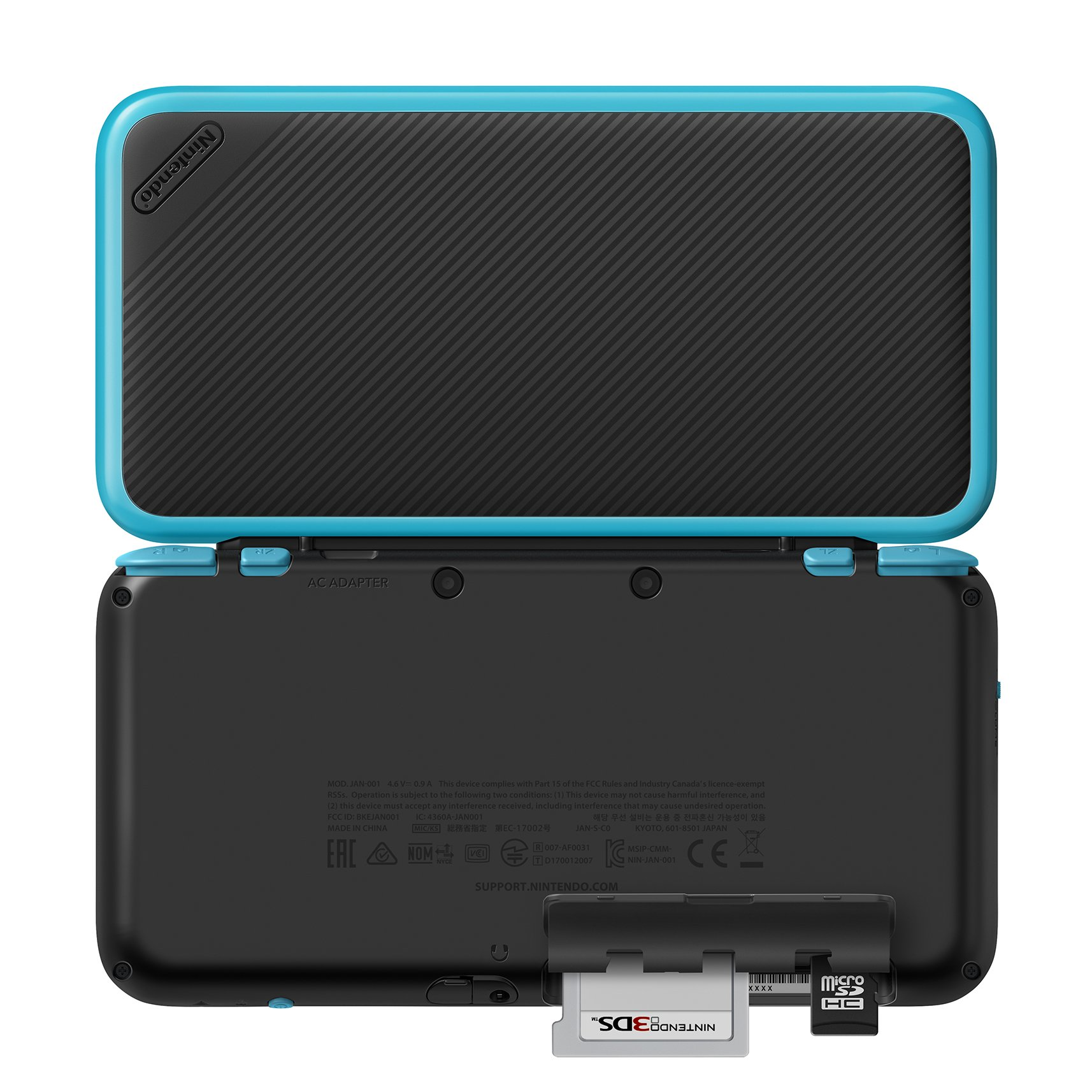 New Nintendo 2DS XL - Black + Turquoise With Mario Kart 7 Pre-installed - Nintendo 2DS by Nintendo (Image #4)