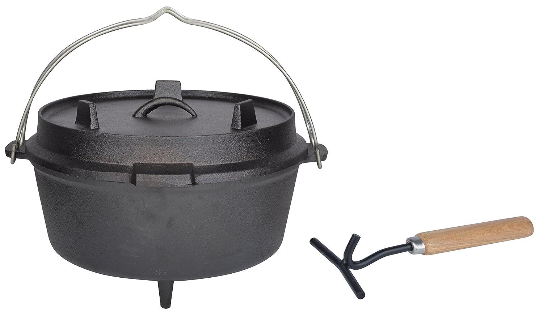 Esschert Design Dutch oven 12 Zoll, schwarz, 36.79x33.9x21.6 cm, FF235