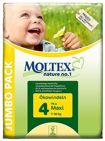 Moltex - Nature - Pañales ecológicos - Talla 4 (7 - 18 kg) -