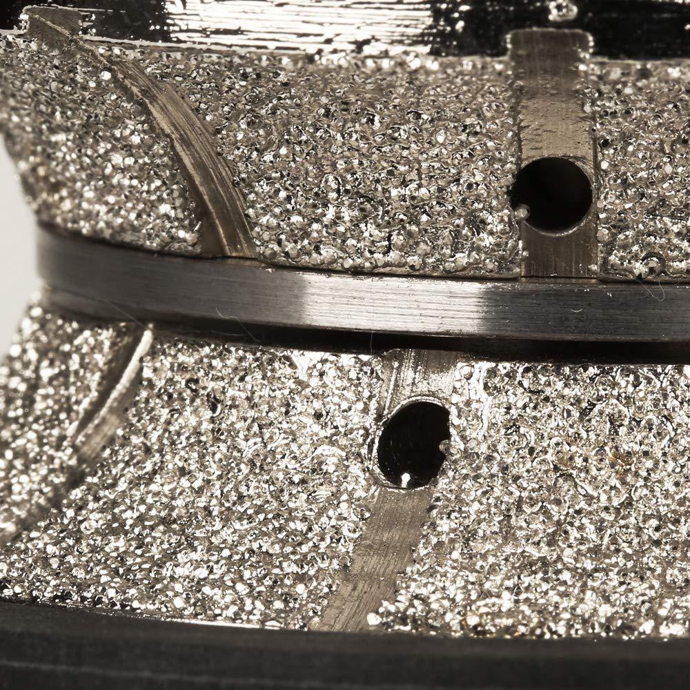 V20 ZFE V3//4 V-Shape Diamond Profile Wheel//Profile Grinding Wheel Full Bullnose Diamond Hand Profiler Router Bit with 5//8-11 Thread for Wet Polisher Wet Grinder Granite Concrete Marble
