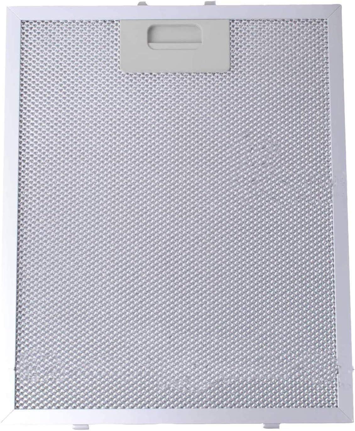 Filtro de Grasa Universal para Campana Extractora de Cocina por Poweka (Plata, 320 x 260 mm)