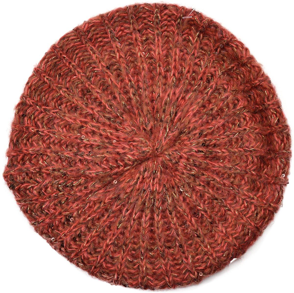 Genie by Eugenia Kim Women's Lucy Beret Hat, Pink/Burgundy,One Size