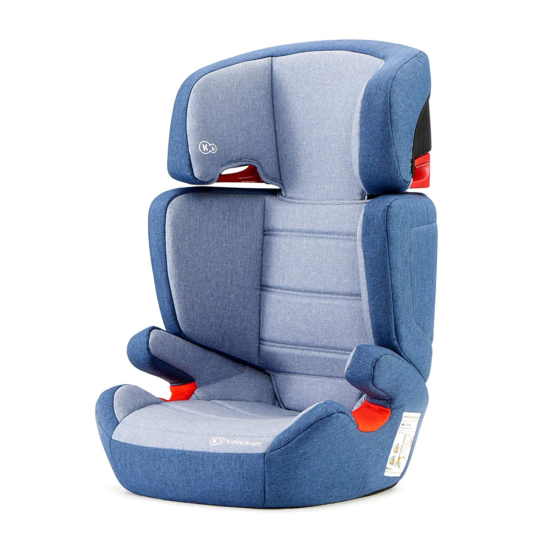Kinderkraft KKFJUFINAV0000 Junior Fix Kindersitz Isofix Autokindersitz 15 bis 36 kg gruppe 2 3, blau 4Kraft