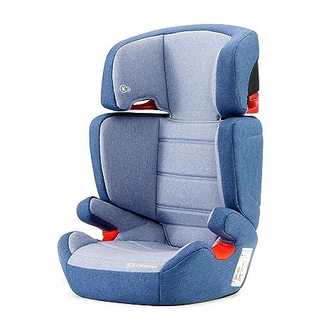 Kinderkraft Silla de coche Junior Fix con Isofix para niño bebe grupo 2/3 (15-36 kg) hasta 12 años respaldo desmontable 7 posiciones del Reposacabezas ...