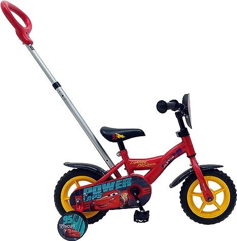 Disney Bicicleta Infantil Niño 10 Pulgadas Cars 3 Conducción Delantera y Trasera Rojo: Amazon.es: Deportes y aire libre