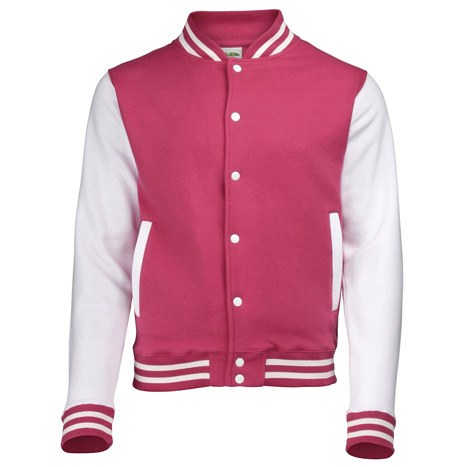 Amazon.com: Awdis Varsity jacket - 16 Colours - Sizes XS to 2XL ...