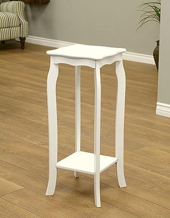 Amazon.com: Frenchi Home Furnishing Plant Stand, Small, White: Kitchen U0026  Dining
