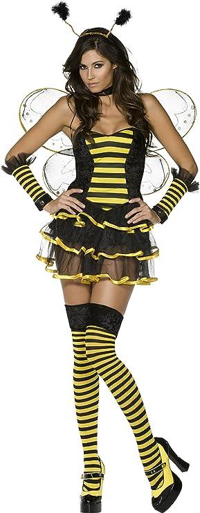 Smiffys Disfraz de abeja sexy traje traje de abeja animal 9 PC ...