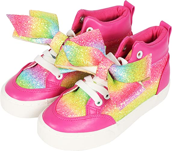 JoJo Siwa Girls High Top Pink Rainbow