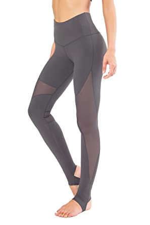 c6fe56ff19d54 Queenie Ke Women Power Mesh High Waist Gym Yoga Leggings Workout Running  Tights Size M Color Dark Grey: Amazon.co.uk: Clothing