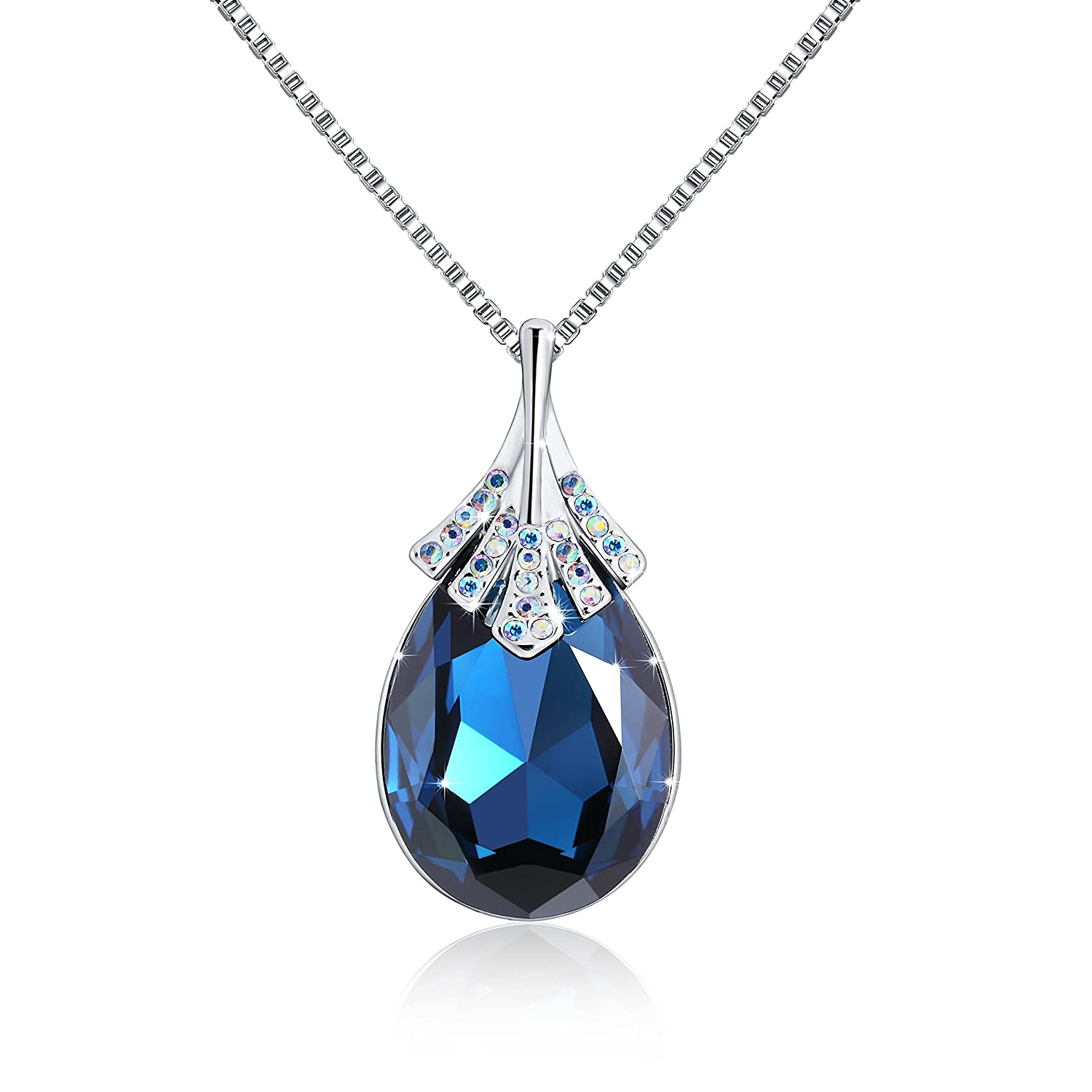 OSIANA'Big Teardrop 18K GP Pendant Necklace Made Swarovski Crystal 18' Osianastyle NK-014