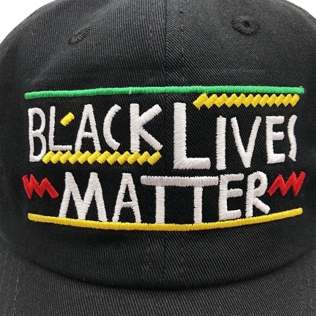 qifang liu Black Lives Matter Dad hat Baseball Cap Embroidered ... d306e2bf44df