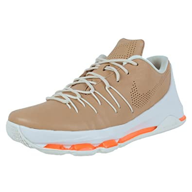 New Nike Mens KD 8 EXT Vachetta Tan/Total Orange Leather Size 12