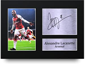 ab7c47157 HWC Trading Alexandre Lacazette Gift Signed A4 Printed Autograph Arsenal  Gifts Print Photo Picture Display