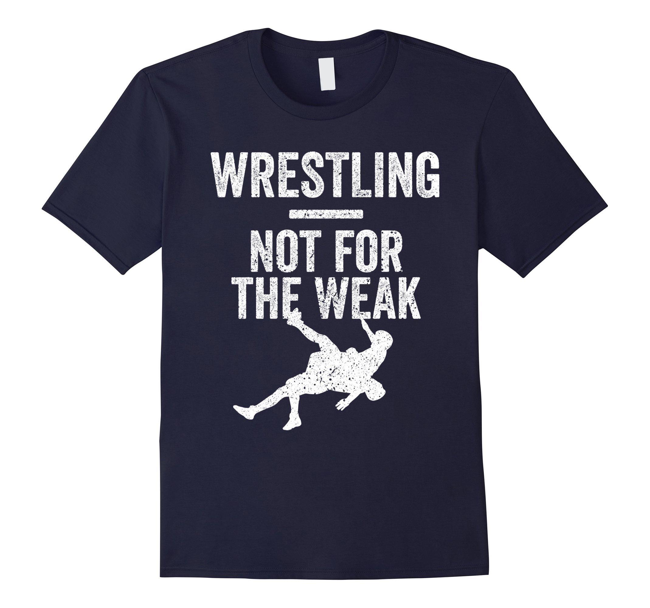 Mens Not For The Weak Wrestling Shirt for Wrestlers, Gift, White Small Navy